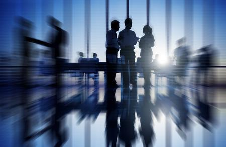 Groep van mensen uit het bedrijfsleven vergadering Stockfoto