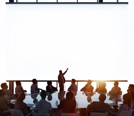 사업: 회의실 비즈니스 미팅 리더십 개념