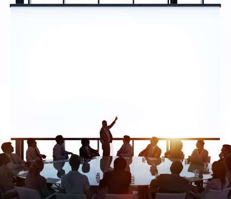 liderazgo empresarial: Sala de reuniones de negocios Reunión Concepto de la dirección Foto de archivo