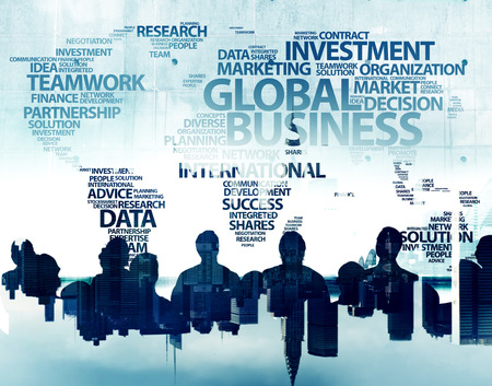 Business People and Global Business Concepts Banco de Imagens - 41342936