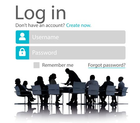 Business People Account LogIn Security Protection Concept photo