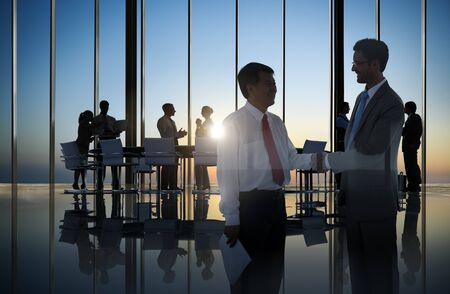 other keywords: Business People Corporate Handshake Agreement Meeting Office Concept Stock Photo