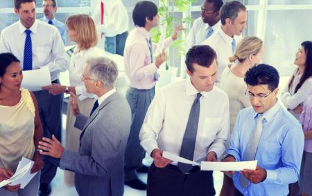 Business People Conversation Communication Talking Team Concept Stock Photo