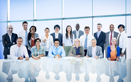 Business People Diversity Team Corporate Professional Office Concept Standard-Bild