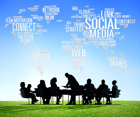 Social Media Internet Connection Global Communications Networking Concept photo