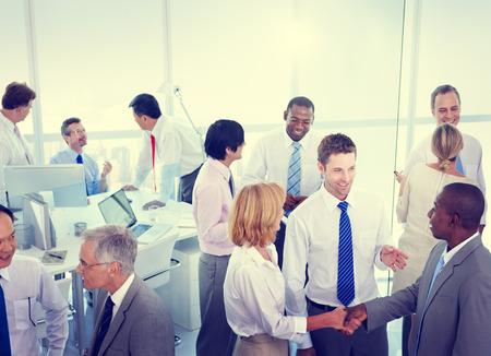 Business People Conversation Communication Talking Team Concept Foto de archivo