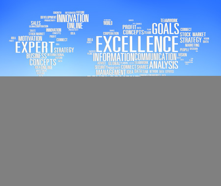 excellence: Excellence Expertise Perfection Global Growth Concept