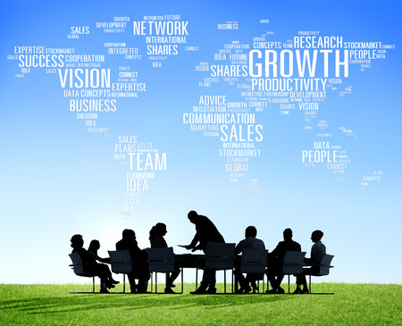 strategy: Global Business People Corporate Meeting Success Growth Concept Stock Photo