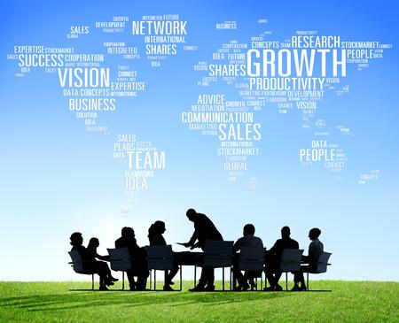 estrategia: Negocio Global de Personas Corporate Meeting �xito del crecimiento Concepto