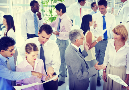 group discussions: Group of Business People Meeting Stock Photo