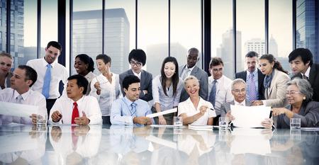 Gente de negocios Reunión Conversación Interacción Comunicación Concepto Foto de archivo - 41335974