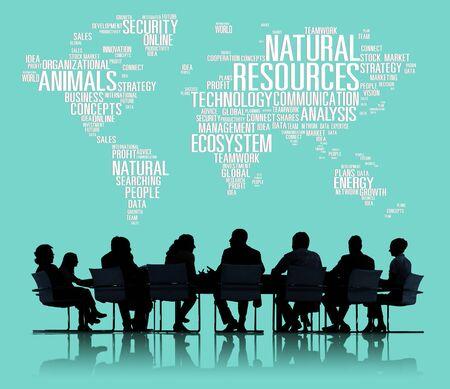 recursos naturales: Recursos Naturales, Conservaci�n del ambiente Sostenibilidad Concept Foto de archivo
