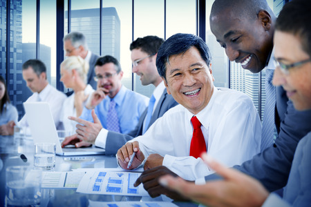talking businessman: Business People Meeting Communication Discussion Working Office Concept