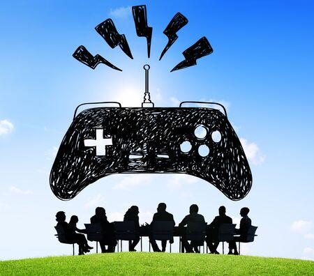 Game controller with business concept