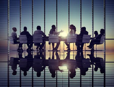 Business People Corporate Communication Meeting Office Concept Banco de Imagens