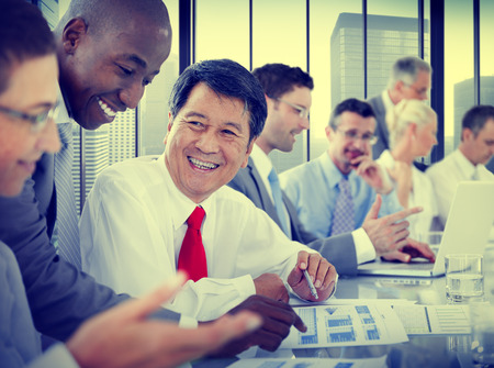 man business: Business People Meeting Communication Discussion Working Office Concept