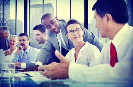 Uomini d'affari Corporate Communication Meeting Concetto Archivio Fotografico - 41336122