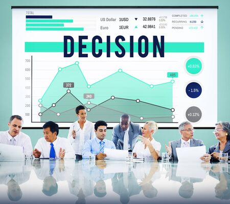 Decision Choice Strategy Business Marketing Concept