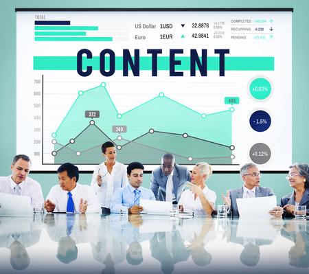 stock market data: Content Publication Marketing Report Concept