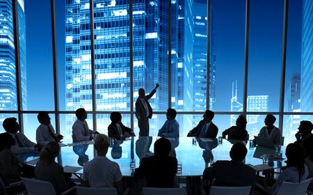 ビジネス人々 会議会議スピーカーのプレゼンテーションのコンセプト 写真素材