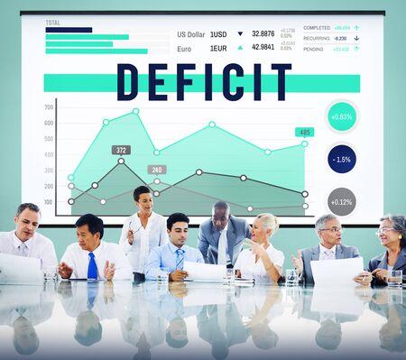 deficit: Deficit Problem Crisis Liability Concept Stock Photo