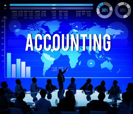 Accounting Finance Business Banking Marketing Concept photo