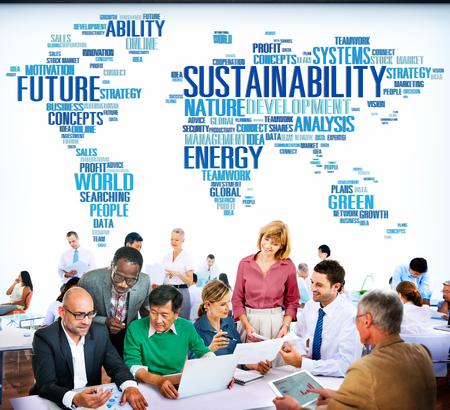 environmental conversation: Sustainability Environmental Conservation Ecology Concept Stock Photo