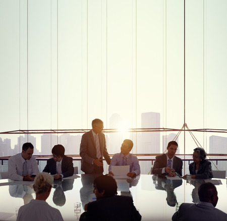 business networking: Business People Meeting Conference Working Boardroom concept Stock Photo