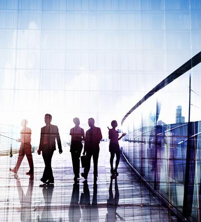Zaken Mensen woon-werkverkeer Wandelen Discussion Concept