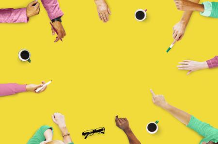 Groep Mensen Brainstormen Meeting Discussion Concept