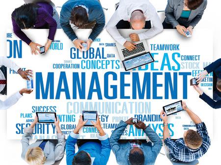 trainer device: Management Vision Action Planning Success Team Business Concept