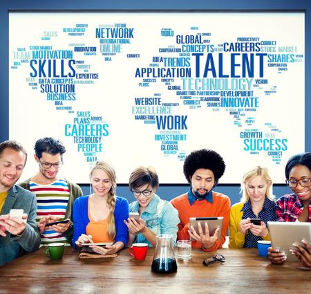 Experiencia Talento Habilidades Genius Concepto Profesional Foto de archivo - 41338204