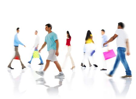 people buying: Community Group of People Buying Shopping Concept Stock Photo