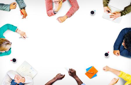 trabajo en equipo: Equipo Trabajo en equipo Discusión Reunión de planificación concepto