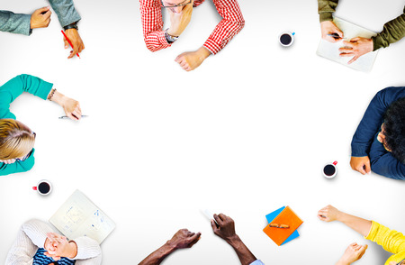 education: Travail d'équipe Discussion réunion de planification Concept