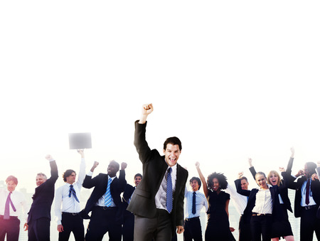 Business People Corporate Celebration Success Concept Stock Photo