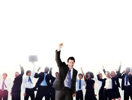 Zaken Mensen Zakelijk Succes Viering Concept Stockfoto