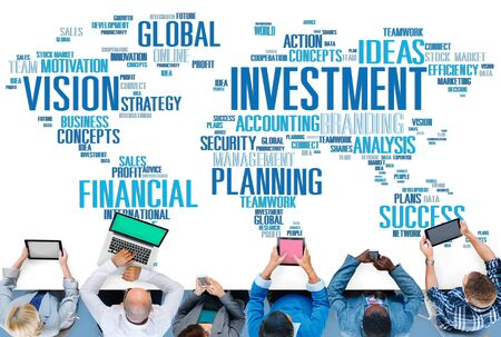financial planning: Investment Vision Planning Financial  Success Global Concept