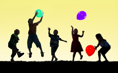 Children Kids Happiness Multiethnic Group Cheerful Playing Concept photo