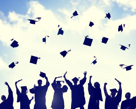 licenciado: Celebraci�n Educaci�n Graduaci�n �xito Estudiantil Aprendizaje Concepto Foto de archivo