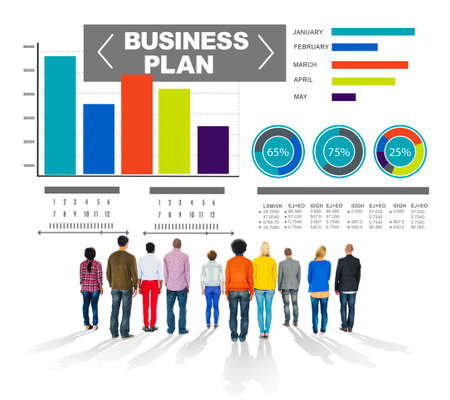 business plan graph brainstorming strategy idea info concept photo