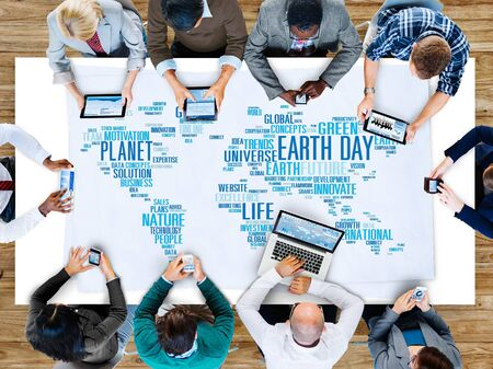 environmental conversation: Earth Day Environment Global Growth Conservation Concept