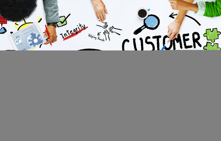 excellent customer service: Customer Loyalty Service Support Care Trust Casual Concept