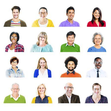 headshot: Portrait of Diverse Multiethnic Cheerful People