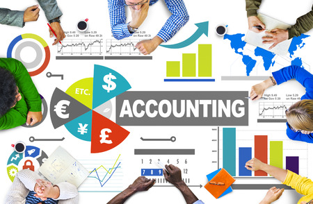 Accounting Analysis Banking Business Economy Financial Investment Concept Standard-Bild