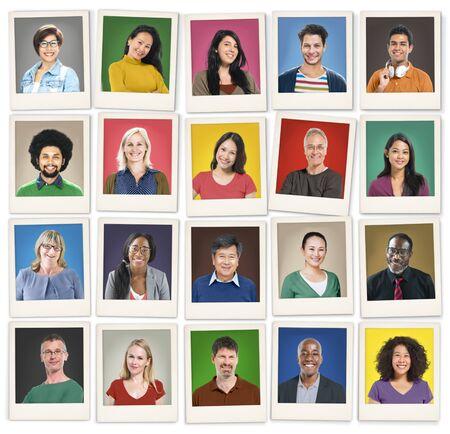 diversidad: Diversidad Faces humano Retrato Cara Comunidad Concept Foto de archivo