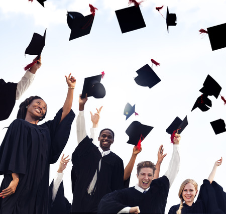 cap and gown: Celebration Education Graduation Student Success Learning Concept