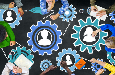 education success: Community Business Team Partnership Collaboration Support Concept Stock Photo