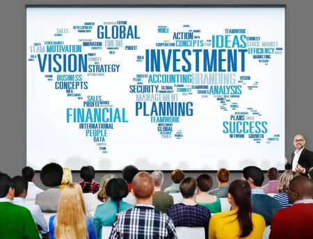 investment vision: Investment Vision Planning Financial  Success Global Concept
