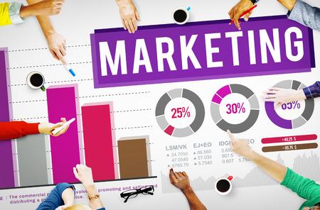 マーケティング分析のデータ バー グラフの概念を配布します。
